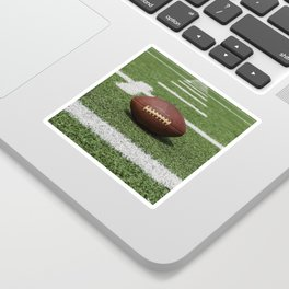 American Football Court with ball on Gras Sticker