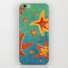 Starry Starfish Night iPhone & iPod Skin