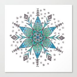 Snowflake Mandala Canvas Print