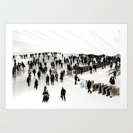 Walking. Art Print