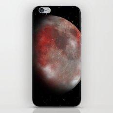 Red moon iPhone & iPod Skin