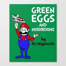 Green Eggs and Mushrooms Canvas Print