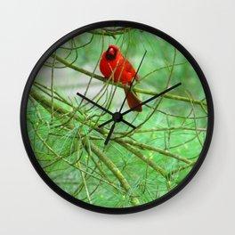 Carolina's Cardinal Wall Clock