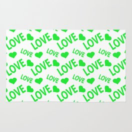 Love Heart Green Rug