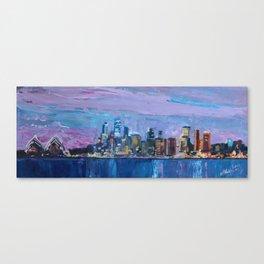 Sydney Skyline with Opera at Dusk Canvas Print
