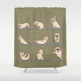 Labrador Retriever Yoga Shower Curtain