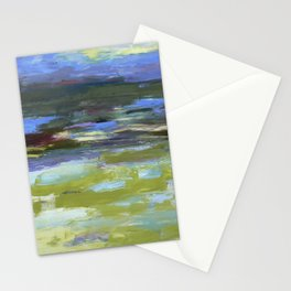 Abstrct Snow Scene Stationery Cards