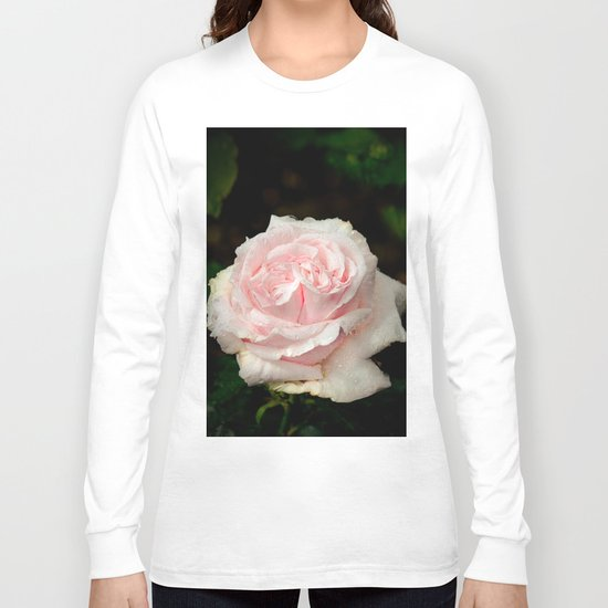 Rose twins with droplets Long Sleeve T-shirt