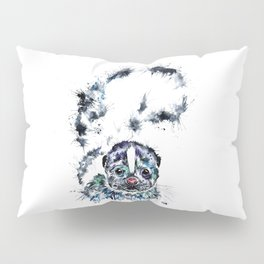 Baby Skunk Watercolor Painting Pillow Sham