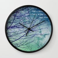 poem Wall Clocks featuring Favorite Poem... by Julia Kovtunyak