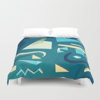 marine Duvet Covers featuring marine by Carlos Castro Perez