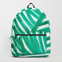 watercolor lines palm leaf 11 Backpack