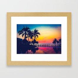 Miami sunset Framed Art Print