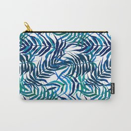 Watercolor floral pattern with palm leaves Carry-All Pouch