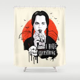 Wednesday The Addams family art Shower Curtain