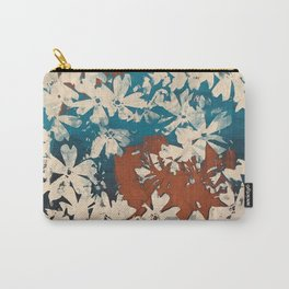 Weston Flowers, blues & browns Carry-All Pouch