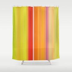 Sablo Lio ~ Orange & Lime Green Shower Curtain