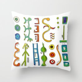 Hieroglyph Throw Pillow