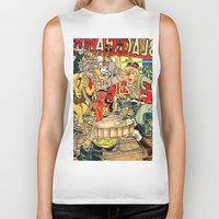 lichtenstein Biker Tanks featuring the daily lives of hungry ghosts by Lanny Quarles