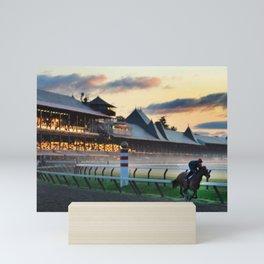 Saratoga Springs Race Course Mini Art Print