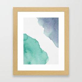Watercolor Drops Framed Art Print