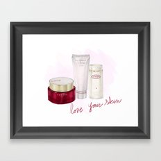 Skin Care Framed Art Print