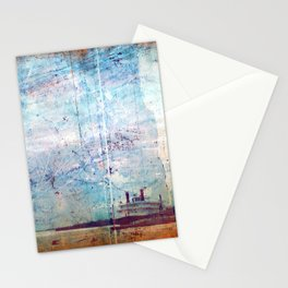 Grunge Ship Stationery Cards