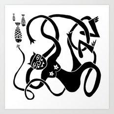 Kitty Love - Fish Bombs Art Print