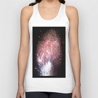 fireworks Tank Tops featuring Fireworks by Helena Jade