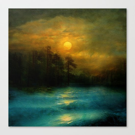 Hope, in the turquoise water. Canvas Print