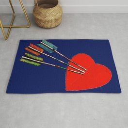 HEART ATTACK, CUPID STYLE Rug