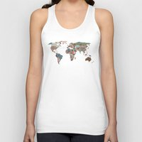 world maps Tank Tops featuring Louis Armstrong Told Us So by Bianca Green