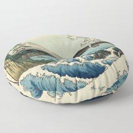Hiroshige - 36 Views of Mount Fuji (1858) - 23: The Sea off Satta in Suruga Province Floor Pillow