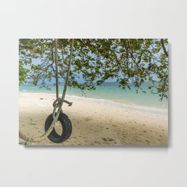 Tire Swing Metal Print