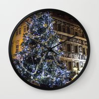 new year Wall Clocks featuring New year 4 by Veronika