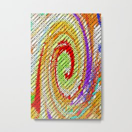 Lattice Spiral Metal Print