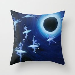 Dancing into the Void Throw Pillow