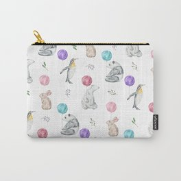 Animals with Balloons Carry-All Pouch