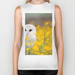 Little Owlet in Flowers (Color) Biker Tank