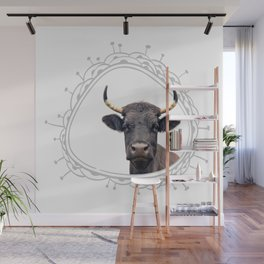 Yellow Horns Wall Mural