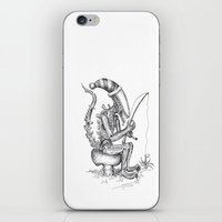 xenomorph iPhone & iPod Skins featuring Alien gnome by ronnie mcneil