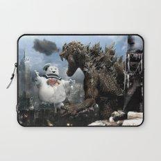Godzilla versus The Staypuft Marshmallow Man Laptop Sleeve