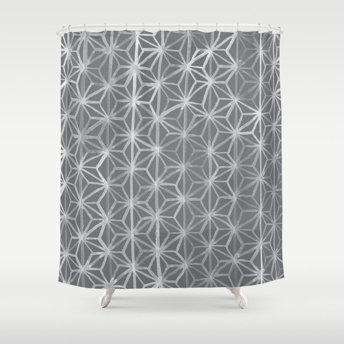Japanese Tie Dye In Pebble Shower Curtain By Goodnightgracie