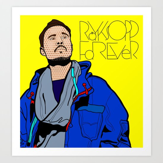 Röyksopp Forever Roy Lichtenstein Inspired Portrait 1 Art Print