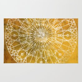 Rosette Window - Yellow Rug