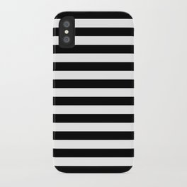 Horizontal Stripes (Black/White) iPhone Case
