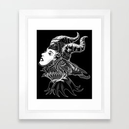 Maleficent Tribute Framed Art Print