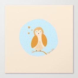 Cute little owl! ♡ Canvas Print