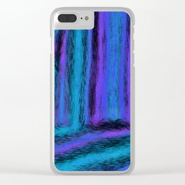 Fuzzy Blues Clear iPhone Case