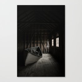 The stored boat Canvas Print